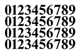 0-9 Numbers Black Vinyl Sticker Decals Assorted Set of 40 Choose Size!! 1'' to 12'' (V646BlackTimes) (3'')
