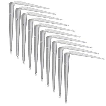 8 Sizes 4x London Grey Metal Shelf Shelving Support Wall Mount Brackets