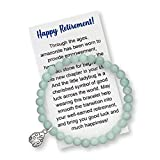 Retirement Gift for Women - Bracelet with Meaningful Message Card, Box and Bow