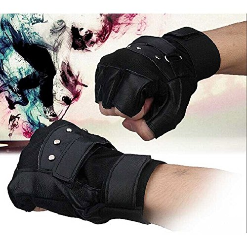Shensee Boy Male Soft PU Leather Driving Motorcycle Biker Fingerless Warm Gloves by Shensee (Image #2)