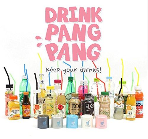 Drink Pang Pangプラスチックボトル蓋Punching for Straw B077P1P7V3  ホワイト
