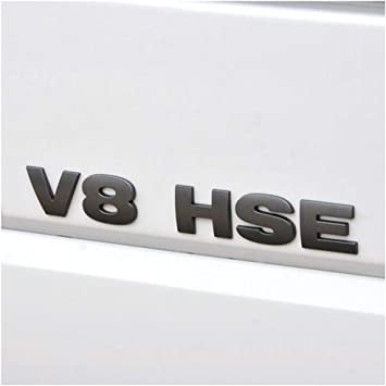 1x 3D ABS Plastic Silver V8 Badge Emblem Car Decal Sticker Logo Decoration