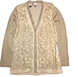 Product review for Oscar De La Renta Women's Ivory/Gold Lurex Silk Blend Cardigan, US L