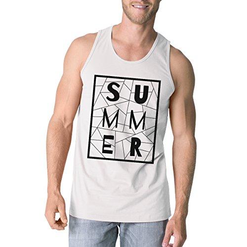 Taille Manche Tank Pull Printing Geometric White Mens Sans Summer Top Unique Homme 365 wqgUxRXAXS