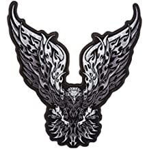 """Hot Leathers Tribal Eagle Patch (11"""" Width x 12"""" Height)"""
