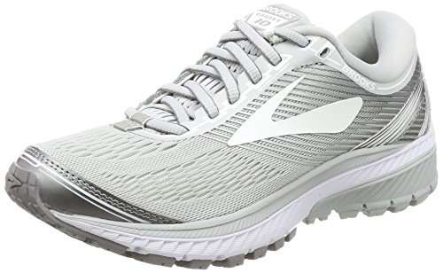 Brooks Ghost 10, Women's Training Shoes Microchip/White/Metallic Charcoal