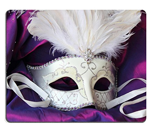 [Liili Mouse Pad Natural Rubber Mousepad IMAGE ID: 14383992 A mardi gras masquerade ball mask on a dress made from purple] (Masquerade Dresses For Sale)