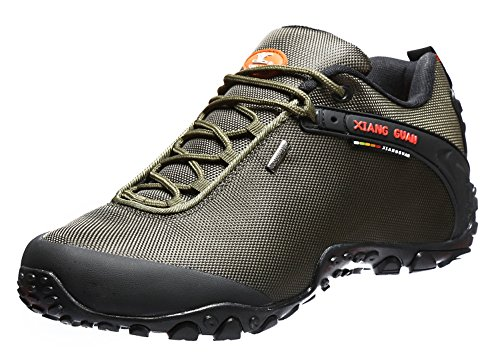 [XIANG GUAN Men's Low-Top Outdoor Shoes Lacing Hiking Shoes 81283 Green 12] (Mens Boots For Sale)
