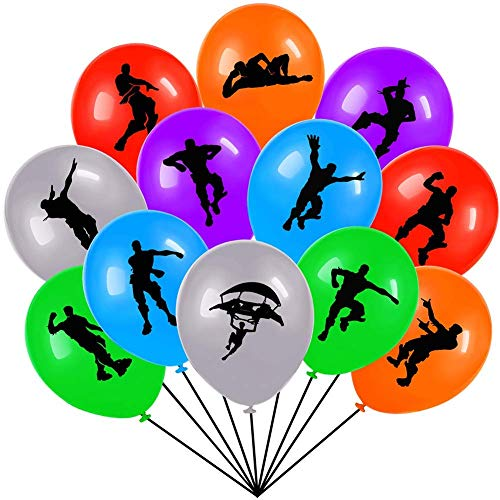 Gaming Birthday Party Balloons With Assorted Colored Latex For Birthday Party Supplies Decoration, Kids Double-side Design 12 Inches 60 Count