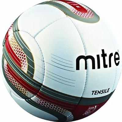 Mitre Tensile 10P - Balón de fútbol profesional, color blanco/rojo ...