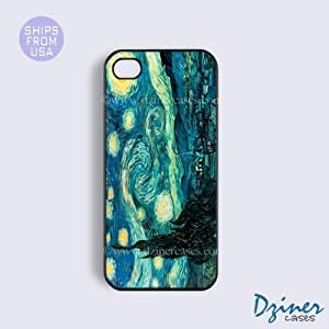 Case Cover For Apple Iphone 4/4S Tough Case - model - Starry Night