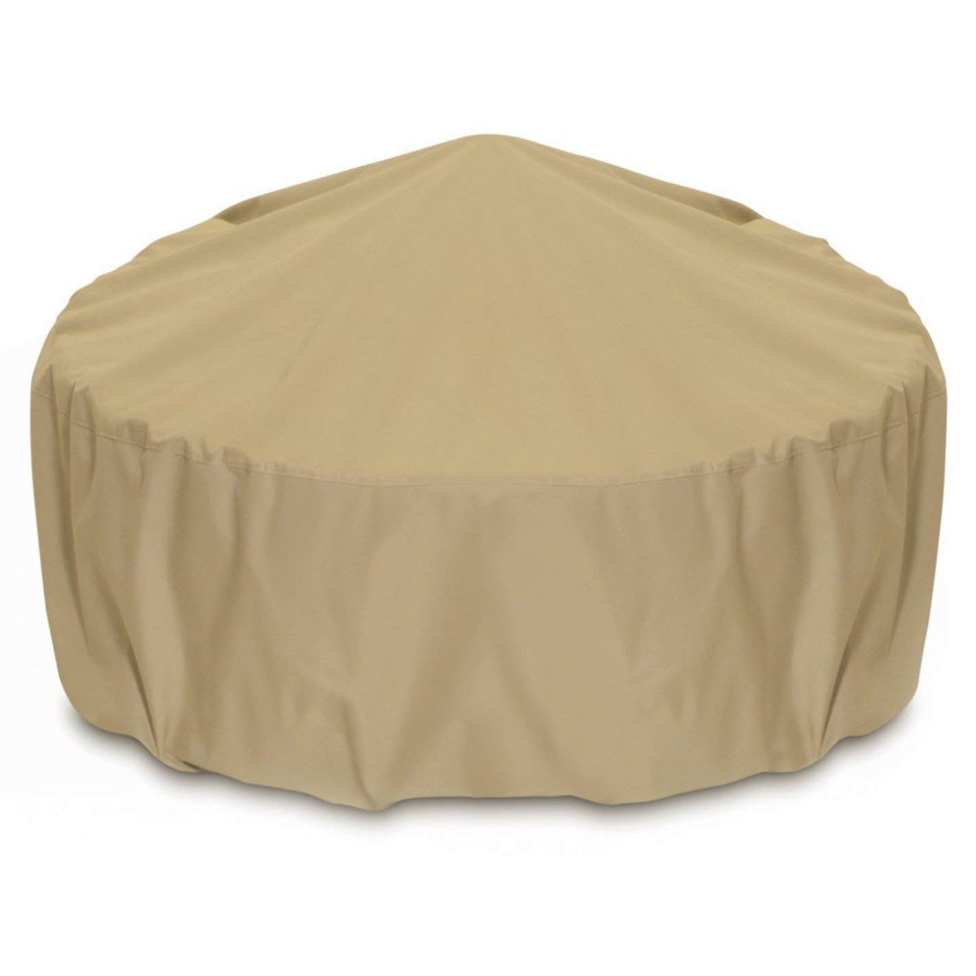 Two Dogs Designs 2D-FP80005 Fire Pit Cover With Level 4 UV Protection, 80-Inch, Khaki by Two Dogs Designs