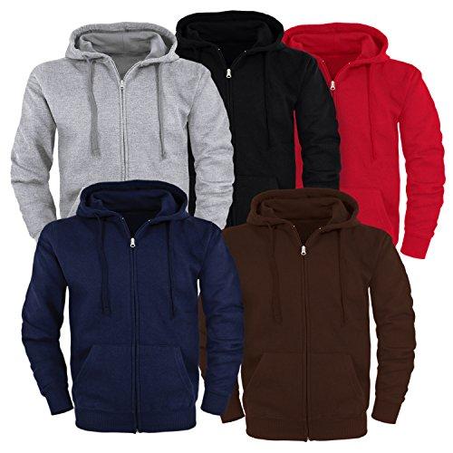 Unisex Kapuzenjacke Zip Hoodie Sweatjacke Jacke / Größe XXL / Farbe schwarz