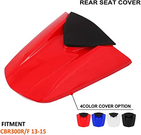 White Motorcycle Rear Seat Cowl Passenger Pillion Fairing Tail Cover For For Honda CBR300R-300F 2013-2015