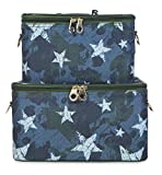 Jenzys Cosmetic Train Case Set (Camo Stars)