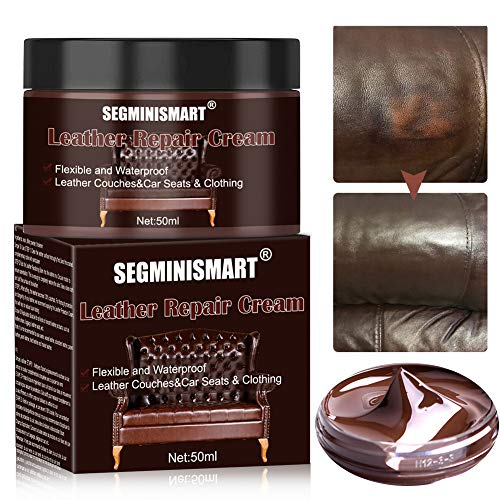 SEGMINISMART Crème Réparatrice Cuir,Kit Rénovation Cuir,Pâte Réparatrice Cuir,Adapté for Le Cuir Lisse/Chaussures/Sacs… 1