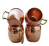 Yadav Handicrafts Handmade Pure Copper Hammered Moscow Mule Mug...