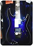 3dRose lsp_194734_1 Print of Blue Electric Guitar with Chrome Skull Single Toggle Switch