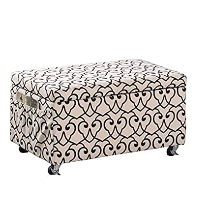 Surprising Amazon Com Upholstered Storage Bench With 2 Black Hanging Pdpeps Interior Chair Design Pdpepsorg