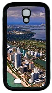 Cool Painting Miami View Building PC Silicone Case Cover for Samsung Galaxy S4/I9500