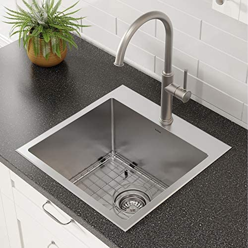 Kraus KHT301-18 Standart PRO Kitchen Stainless Steel Sink, 18 inch, 18 inch
