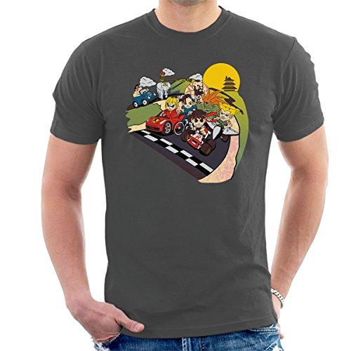 Super Fighting Kart Street Fighter Mario Men's T-Shirt