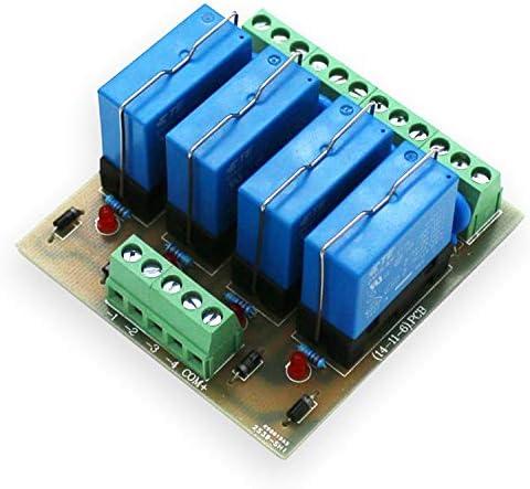 便利 DC 24V 4チャンネルリレーモジュール4パネルドライバーボードモジュールPNP 組み立てが簡単 (Bundle : DC24V PNP)