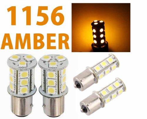 2 pcs Car/Truck/Vehicle/Motorcycle 1156 BA15S 18 SMD 5050 LED Turn Signal Reverse Backup Light Bulb Lamp Amber/Yellow by…