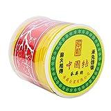 BEADNOVA 0.8mm Golden Yellow Chinese Macrame Cord Thread Nylon Beading Cord 100m