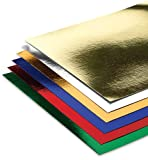 Hygloss Products Mirror Board Sheets - Reflective, Shiny Poster Board – 8-1/2 x 11 Inches, Assorted Colors, 6 Pack