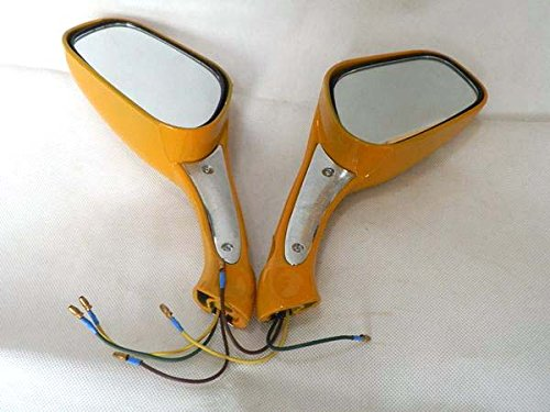YunShuo Black 8mm Rearview Mirror GY6 Moped Scooter 50-250 Pair W//Signal Marker