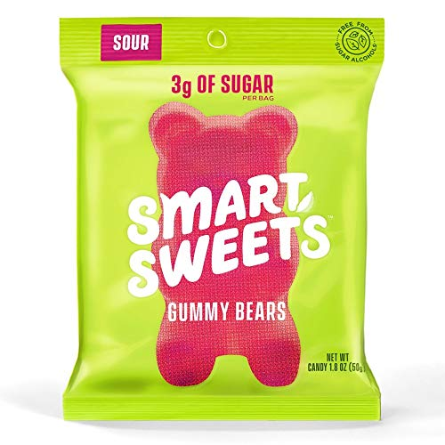 Smart Sweets, Gummy Bears Sour, 1.8 Ounce