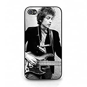 Cover Shell Fashion Cool With Guitar Folk Rock Singer Bob Dylan Phone Case Cover for Iphone 4 4s Bob Dylan Fashionable