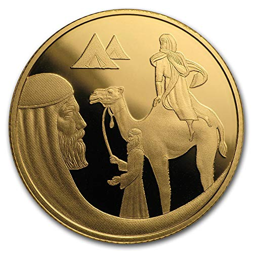 2018 IL Israel 1/2 oz Gold 10 NIS Isaac and Rebecca Proof 1/2 OZ Brilliant Uncirculated