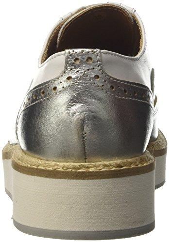 British Passport Zapatos Oxford Wing Cap Blanco EU 38
