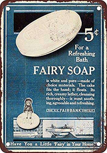WallDector 1915 Fairy Soap Iron Poster Painting Tin Sign Vintage Wall Decor for Cafe Bar Pub Home Beer Decoration Crafts]()