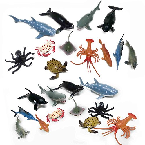 Fun Central (AZ919) 4 Inch Ocean Sea Animals Action Figure - Assorted-24pc
