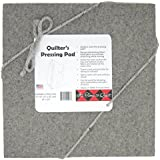 "Quilter's Pressing Pad 8""x8""x1/2"" by Its Time to Quilt - 100% Wool Ironing mat-Holds Heat When Pressing to Provide Professional Results with Ease-Conveniently Sized for Travel"