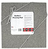 "Its Dated to Quilt Quilter's Pressing Pad 14""x14"" by 100% wool ironing mat-Holds heat when pressing to provide professional results with informality-Conveniently sized for travel"