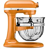 6 qt professional kitchen aid - KitchenAid KF26M2XTG 6-Qt. Professional 600 with Glass Bowl, Tangerine