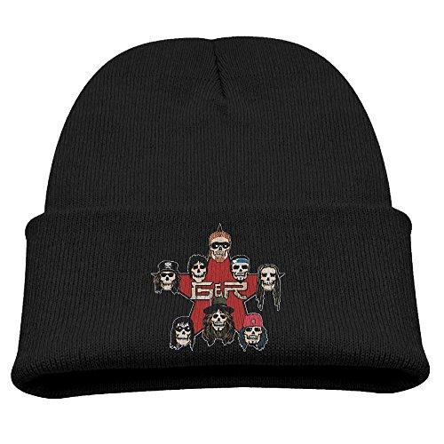 Big Girls' Wool Hat Hipster Beanie Winter Guns N Roses Skull Cap BaseballCap Stockings ()