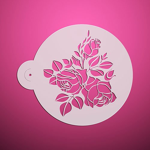 Large Rose Design Fondant Decorating Stencil Cake Top Stencil Wedding Decorating Stencil Wall Stencil Valentines ST-3185 -