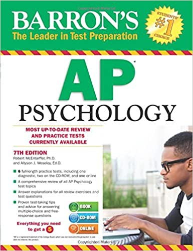 Barron's AP Psychology with CD-ROM, 7th Edition (Barron's AP
