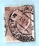Used Italy Postage Stamp %281954%29 100L