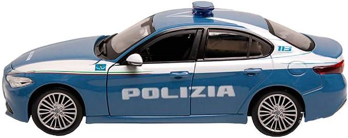 CommercioEuropa Modellino Alfa Romeo Giulia Bburago 1//24 Polizia di Stato