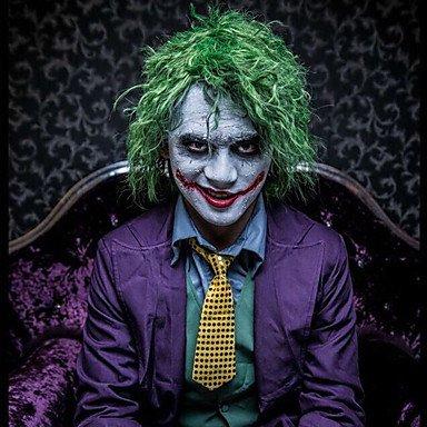 Sin tapa verde Joker corto Fluffy pelo rizado pelucas de disfraces para Halloween Cosplay Party de fibra de alta temperatura: Amazon.es: Belleza