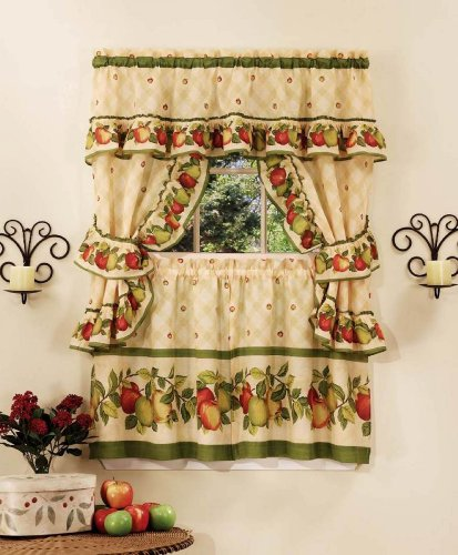 Achim Home Furnishings, Antique Apple Orchard Cottage Set, 24-Inch