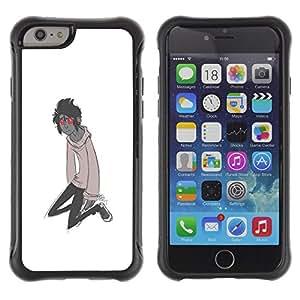 Be-Star único patrón Impacto Shock - Absorción y Anti-Arañazos Funda Carcasa Case Bumper Para Apple iPhone 6(4.7 inches) ( Red Eyes Monster Cartoon Character Boy )