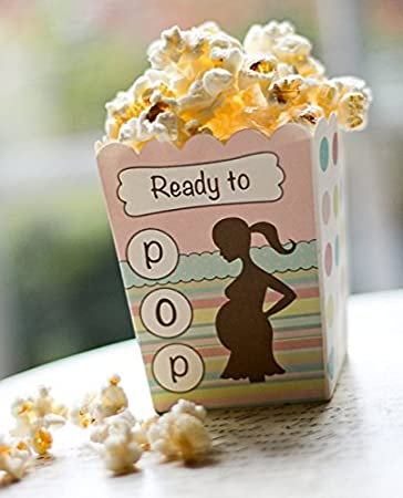 Amazon Ready To Pop Pastel Colors Baby Shower Popcorn Favor Box
