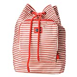 Dolce & Gabbana Multi-Color Striped Women's Drawstring Backpack Bag
